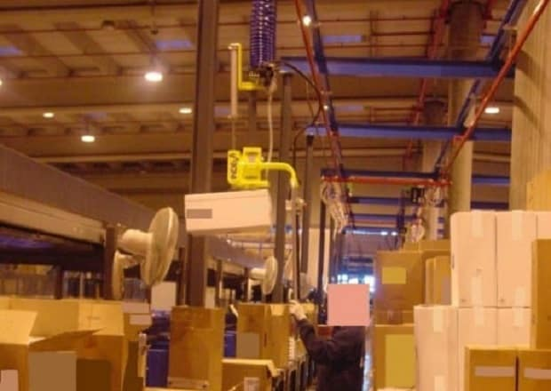 lifting equipment for cardboard cases