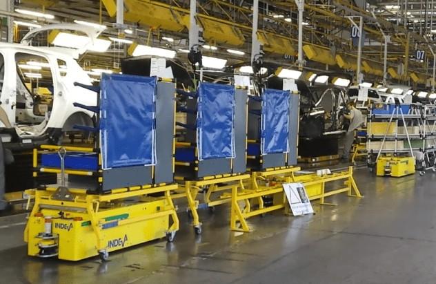 AGV INDEVA para agilizar el proceso de producción y evitar operaciones repetitivas.