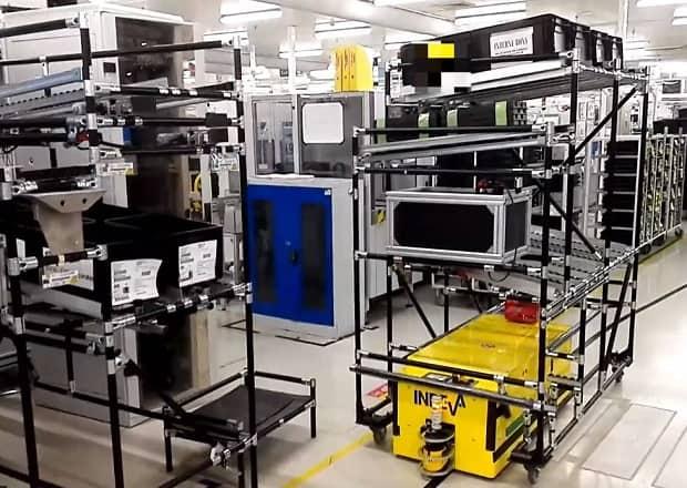 Tunnel AGV en la industria del automóvil