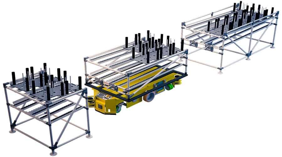 Nuestros carros shooter permiten al operario resolver el problema de la manipulación de cargas pesadas