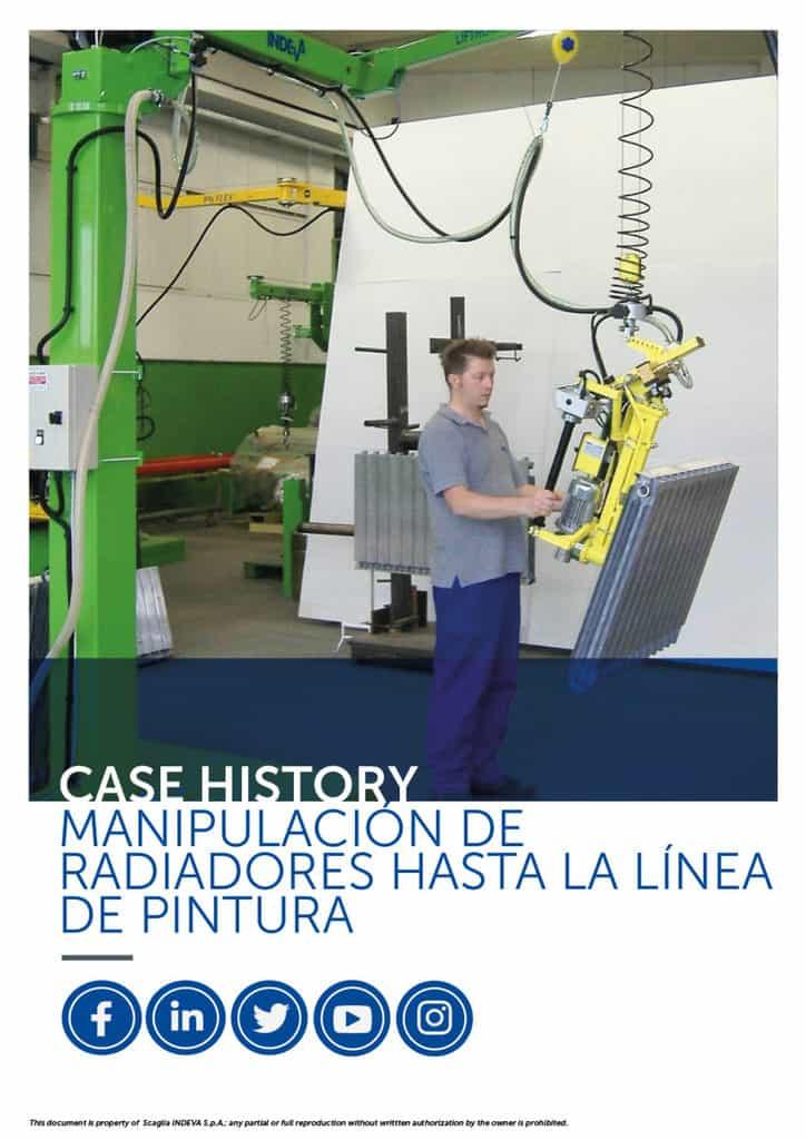 Historias de éxito de INDEVA: mover los radiadores de la línea de pintura con total ergonomía y seguridad, aumentando la productividad.